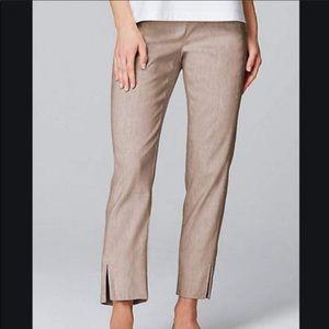 XL Petite 16 18 J. Jill Linen Stretch Pants Womens